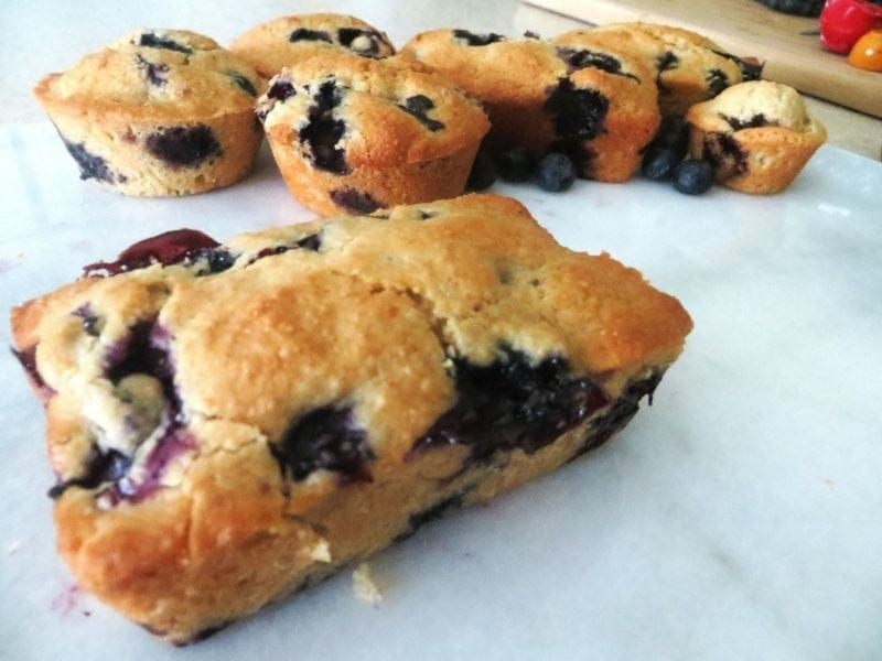 Blueberry Muffins with Lemon Zest