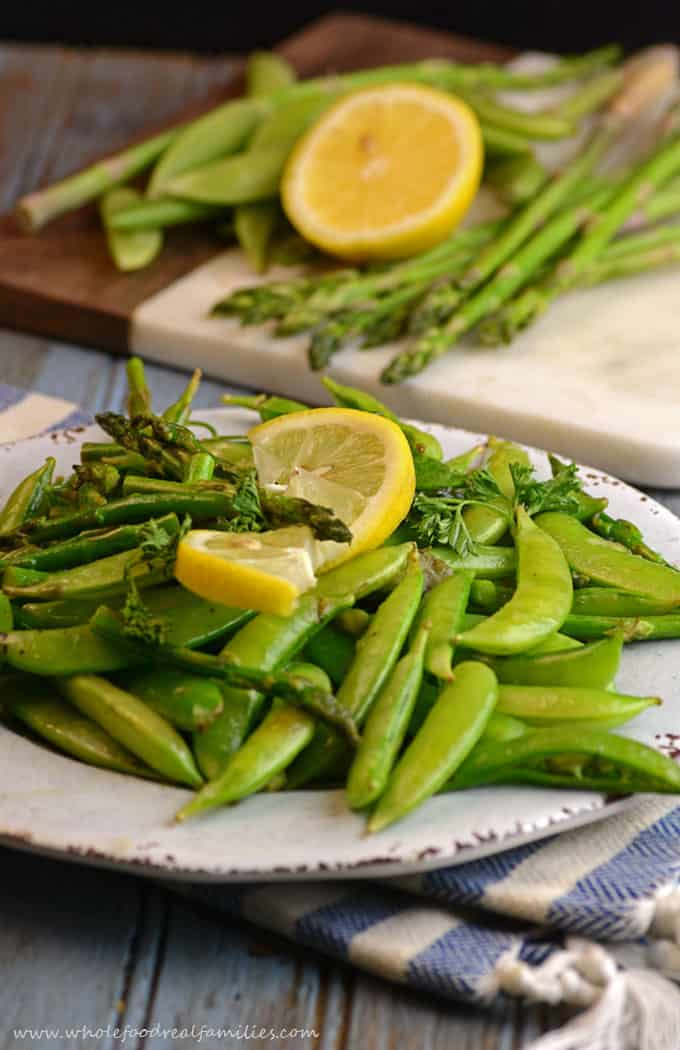 Sauteed Sugar Snap Peas and Asparagus