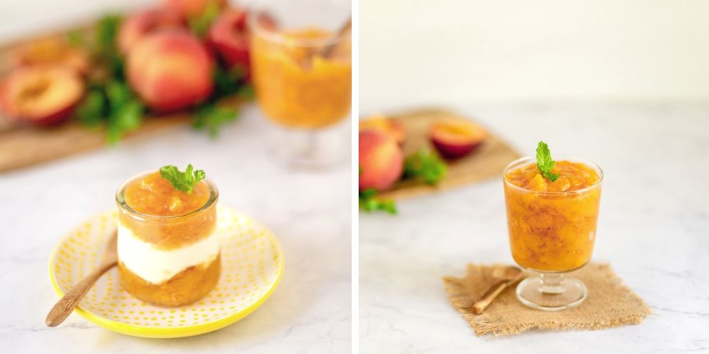 how to make peach compote