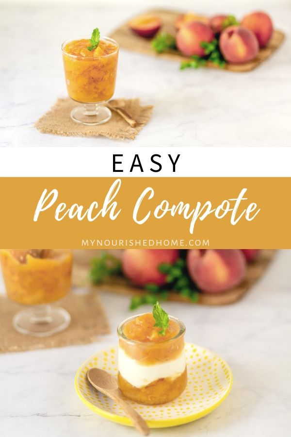 easy peach compote