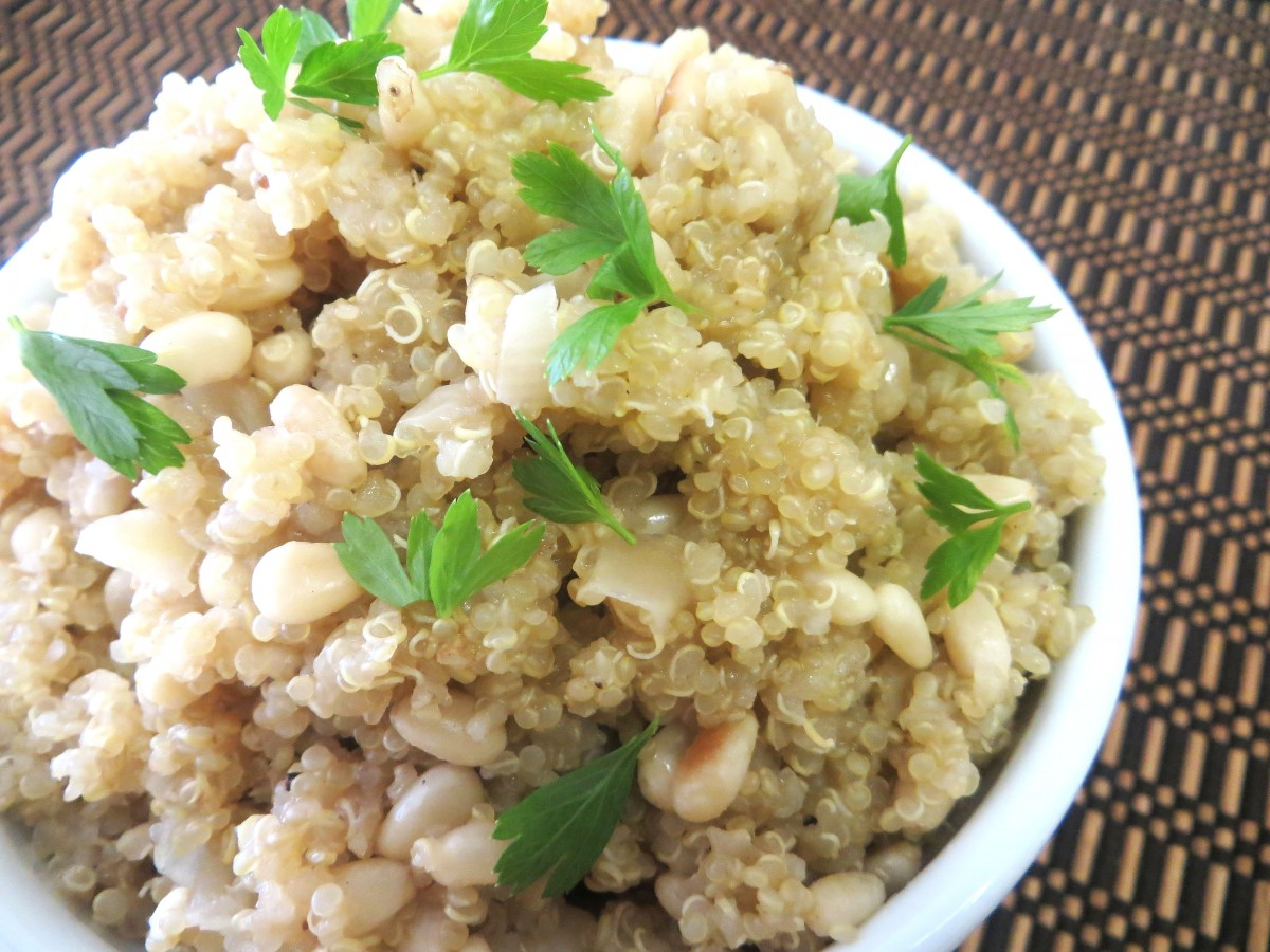 Quinoa with Pinenuts and Onions