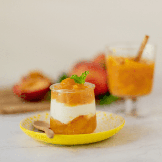 Ginger Peach Fruit Compote Recipe