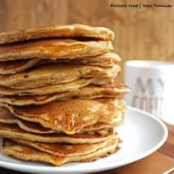 Whole Wheat Banana Nut Pancakes