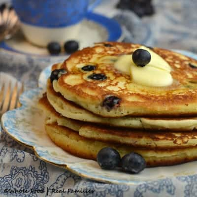 Blueberry Ricotta Pancakes with Lemon
