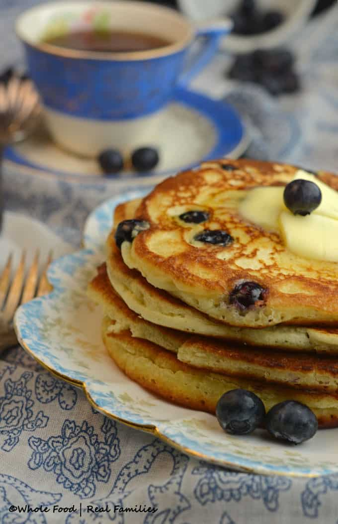 Blueberry Ricotta Pancakes with Lemon - these are going to blow your mind! They are our very favorite pancakes. They also freeze great for a quick make ahead breakfast.