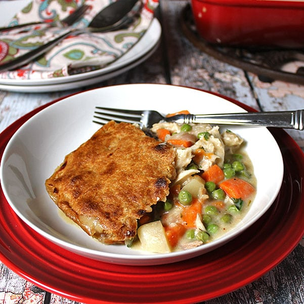 Chicken Pot Pie with a Whole Wheat Crust