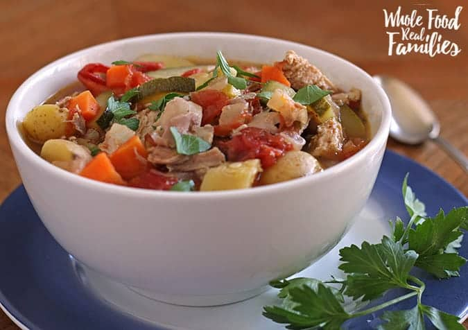 Crock Pot Vegetable Soup is perfect for lunch or dinner!