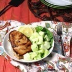 Pan Seared Tuna Steak with Gingered Melon. A clean eating, whole food recipe. No refined ingredients.