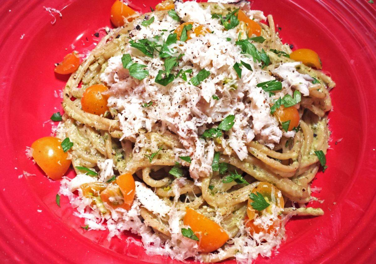 Crab and Pesto Cream Pasta