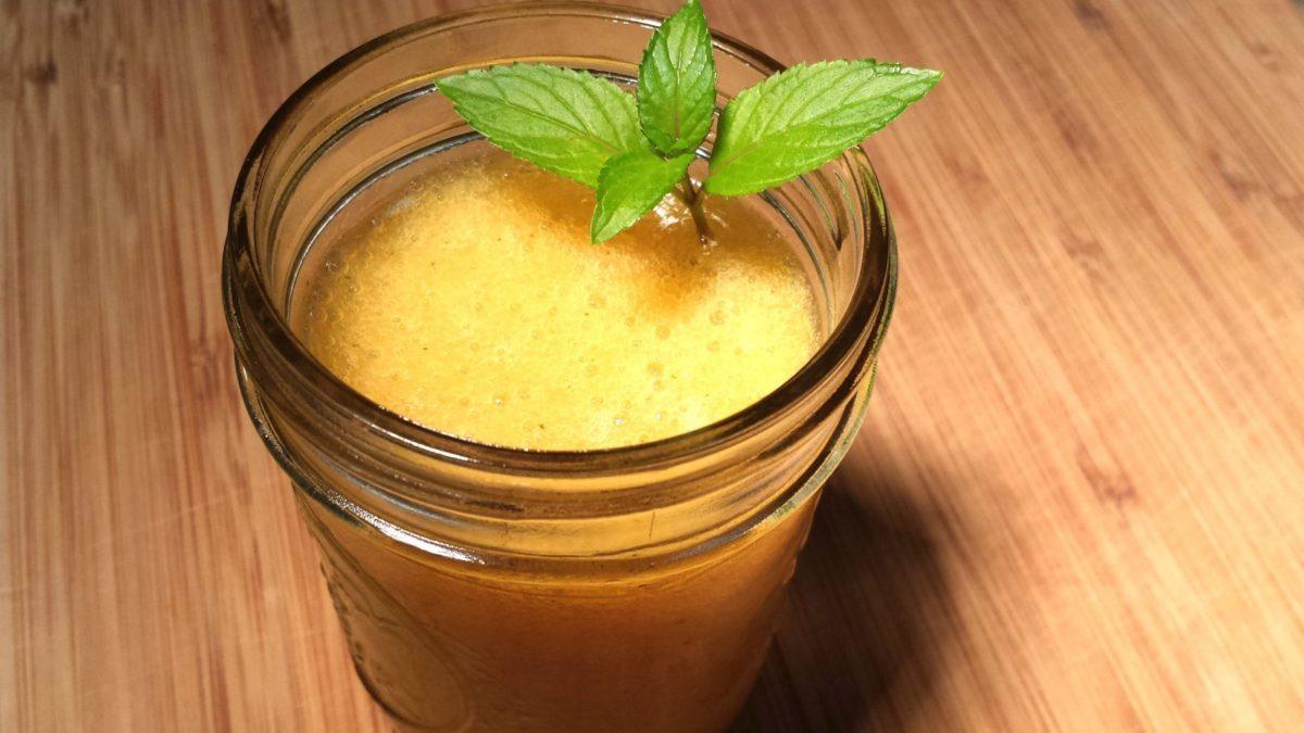 Peach Banana Bourbon Slushie