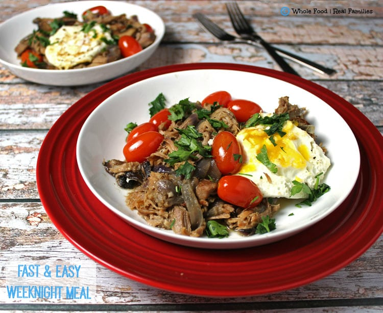Pulled Pork Hash with Baked Eggs