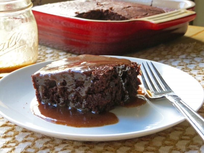 Chocolate Cake with Maple Butter Sauce