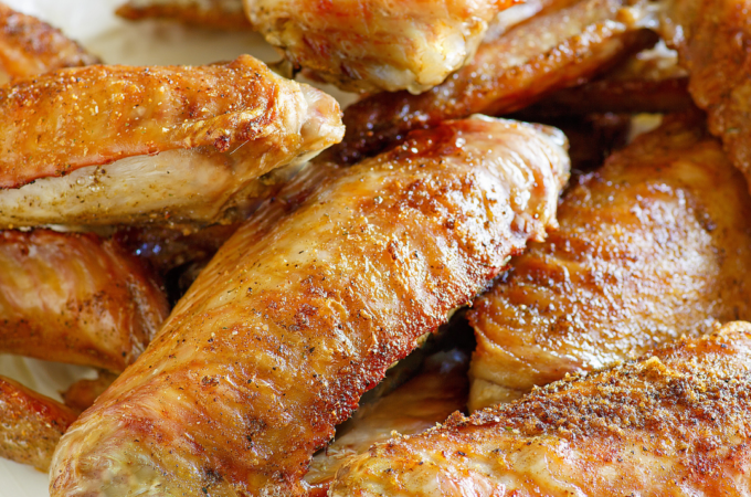 How to bake turkey wings and make turkey stock.