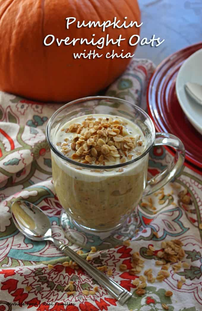 Pumpkin Overnight Oats are a filling breakfast recipes and perfect for fall!