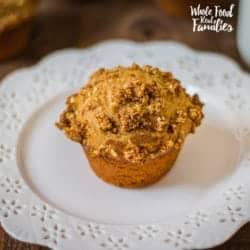 Sweet Potato Muffins with an Oatmeal Crumble Top
