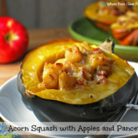 Acorn Squash with Apples and Pancetta