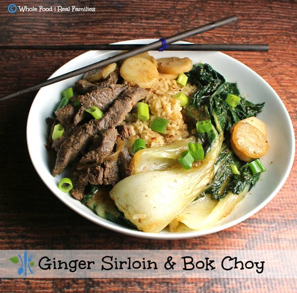 Ginger Sirloin and Bok Choy