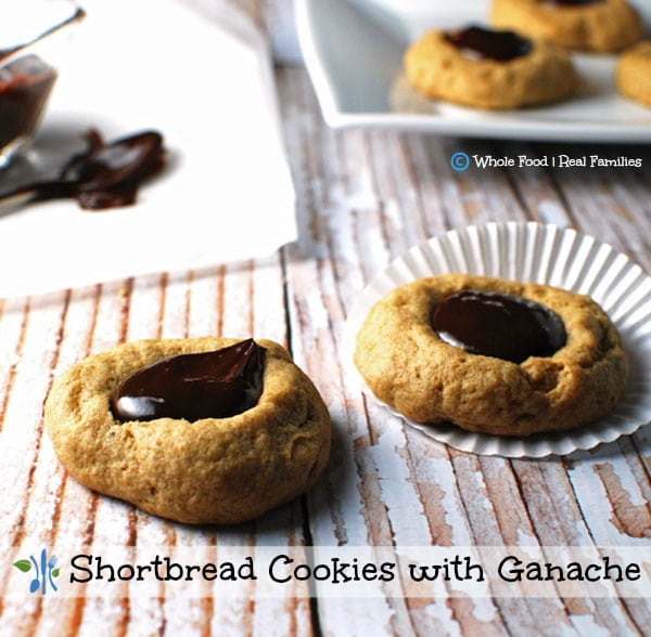 Shortbread Cookeis with Ganache