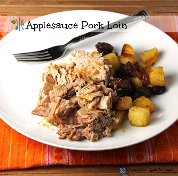 Apple pork loin in the slow cooker my nourished home a clean eating whole food recipe no processed ingredients forumfinder Image collections