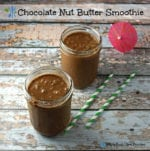 Chocolate nut Butter (Spinach) Smoothie. A clean eating, whole food recipe.