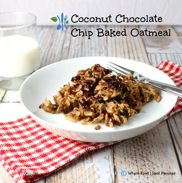Coconut Chocolate Chip Baked Oatmeal