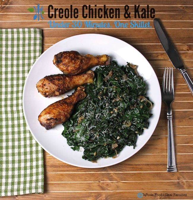 Creole Chicken with Sauteed Kale