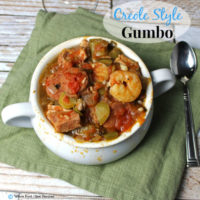 Creole Style Gumbo. A clean eating,, whole food recipe with all the flavor of Louisiana. No refined ingredients.