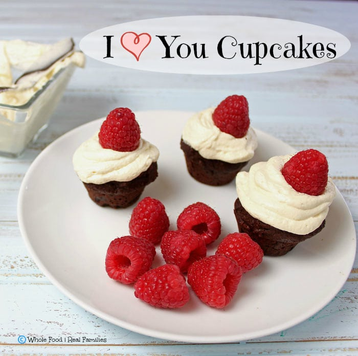 I Love You Cupcakes. All the YUM with none of the refined ingredients. A clean eating, whole food recipe.