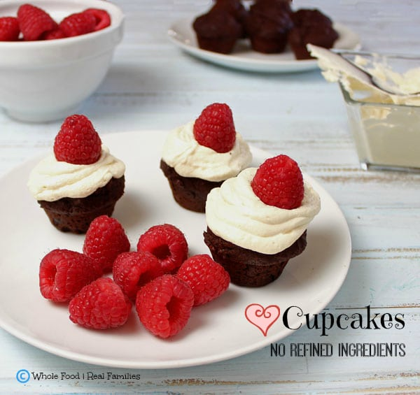 Holiday Cupcakes. All the YUM with none of the refined ingredients. A clean eating, whole food recipe.