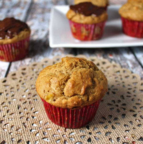 Peanut Butter Banana Muffins. A clean eating, whole food recipe. No refined ingredients.