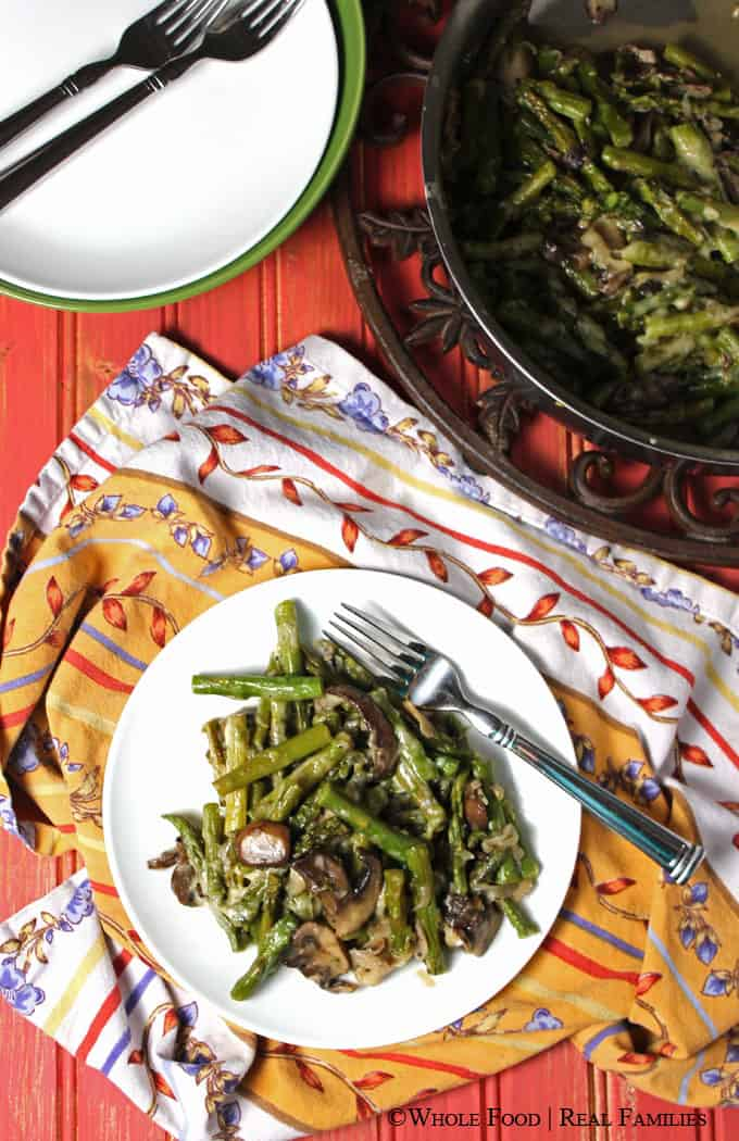 Asparagus and Mushroom Saute. A clean eating, whole food recipe. No refined ingredients.