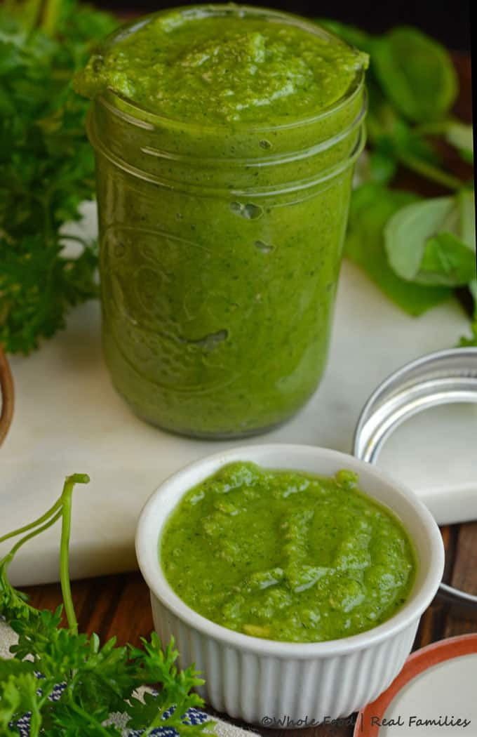 Easy Pesto Recipe - A recipe to make it, how to use it and how to freeze it for later.