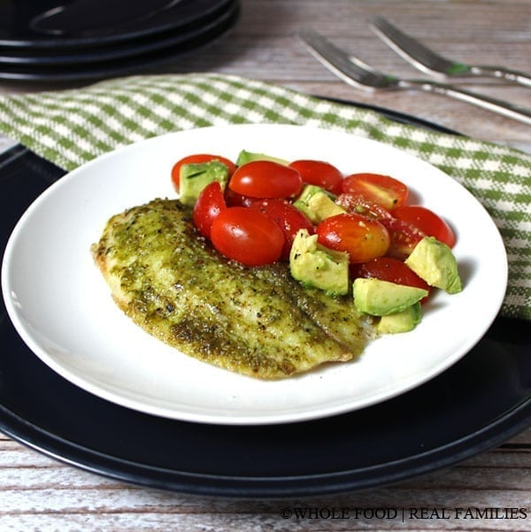 Tilapia with classic pesto my nourished home a clean eating whole food recipe no refined ingredients forumfinder Images