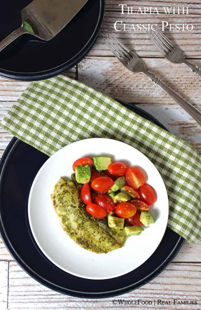 Tilapia with an easy Pesto recipe