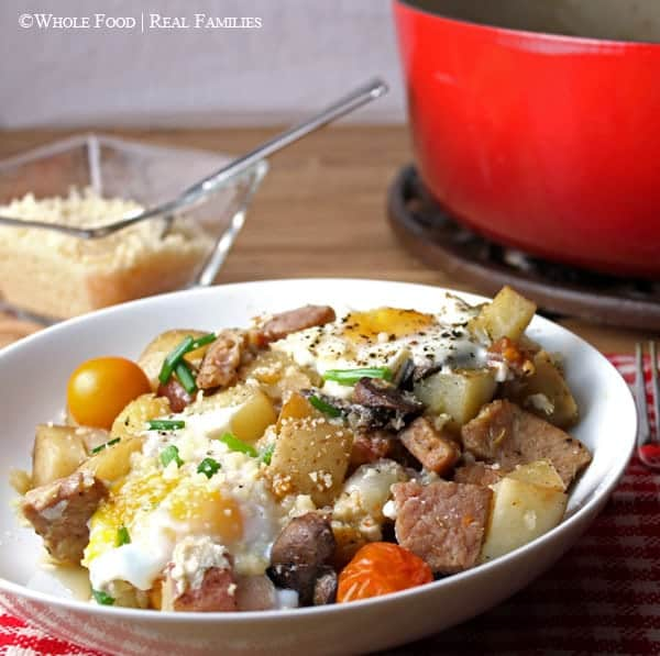 Ham and Egg Hash. A clean eating, whole food recipe. No refined ingredients.