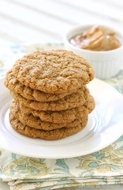 Whole Food Peanut Butter Cookie. No flour or refined ingredients. Gluten free.