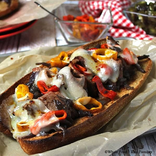 Brisket Grinder with Smoked Peppers and Caramelized Onions