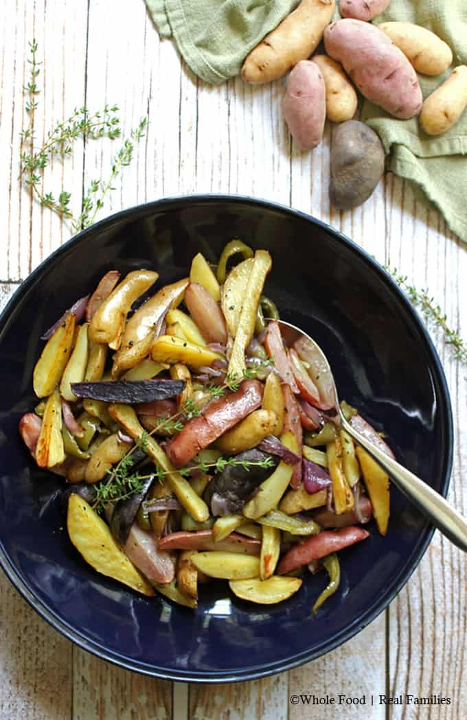 Fingerling Potato Medley with Onions and Peppers