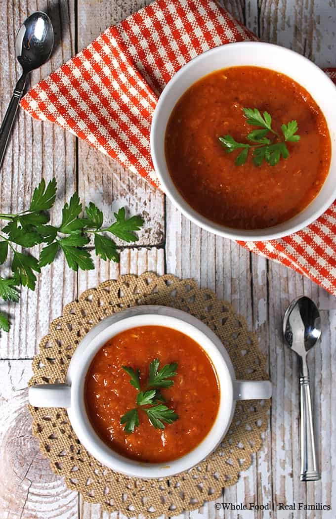 Fresh Tomato Soup Recipe with garden tomatoes