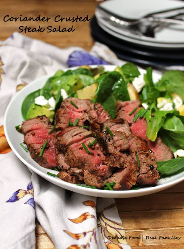 Coriander Crusted Steak Salad is flavorful and cooks and assembles ...