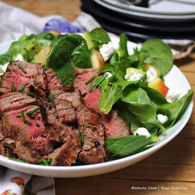 Coriander Crusted Steak Salad - Whole Food | Real Families