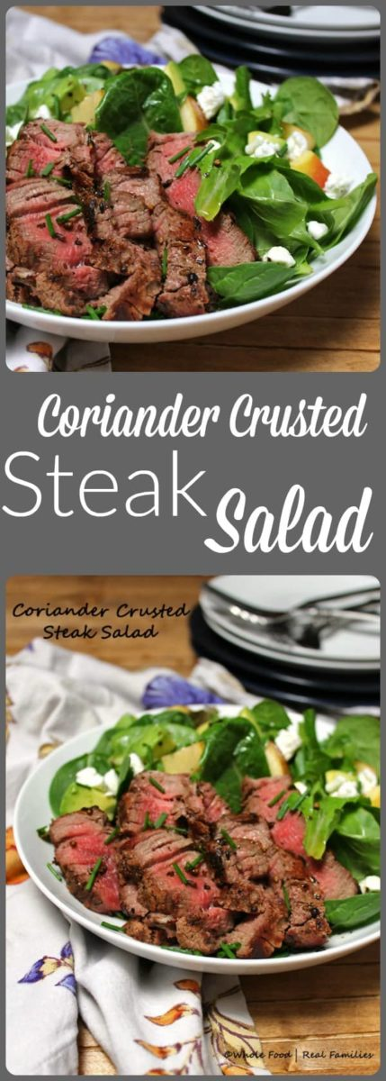 Coriander Crusted Steak Salad