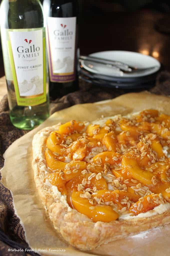 Peach Mascarpone Dessert Pizza
