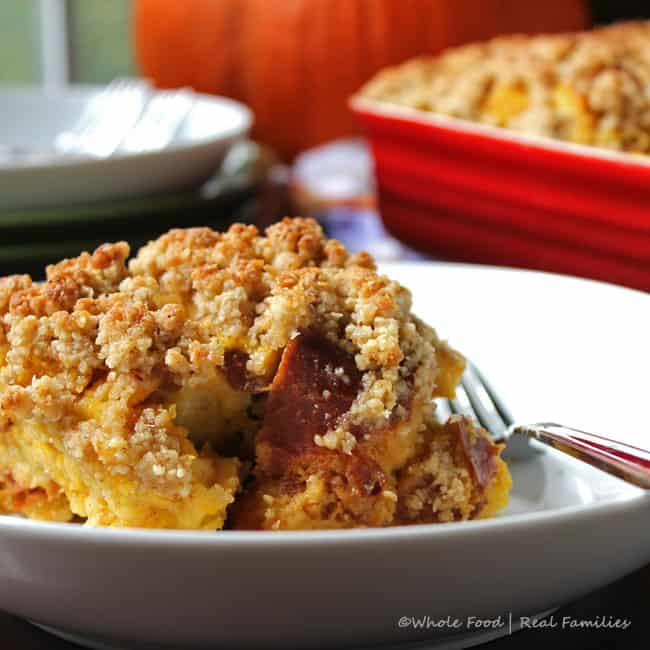 Maple Pumpkin Bread Pudding - Whole Food | Real Families