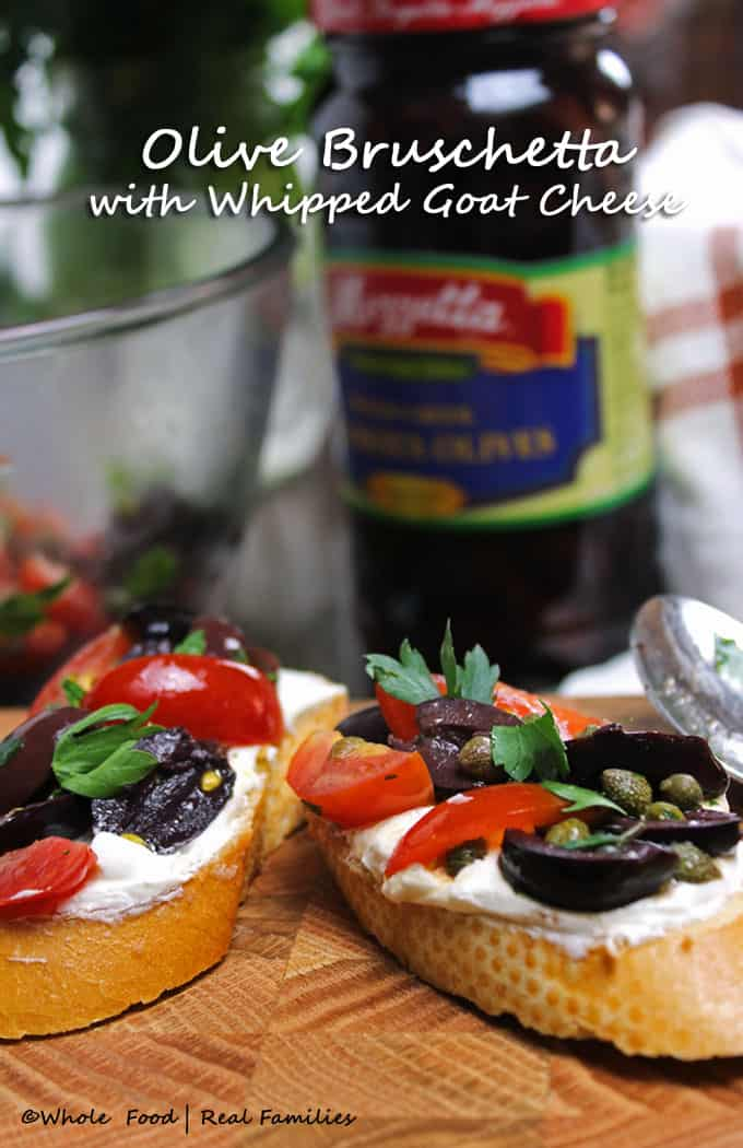 Olive Bruschetta with Whipped Goat Cheese