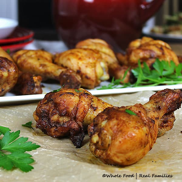 Simple Chicken Drumsticks with Curry and Paprika . Perfect for the grill or smoker!
