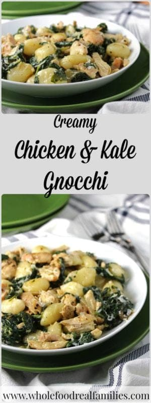 Creamy Chicken & Kale Gnocchi for a fast and healthy weeknight meal