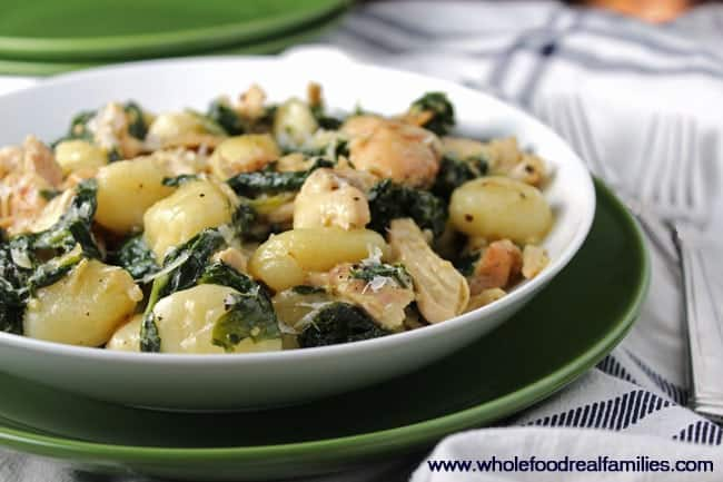 Creamy Chicken and Kale Gnocchi for a simple, delicious dinner
