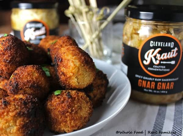 Gnar Gnar Sauerkraut Balls by Whole Food | Real Families