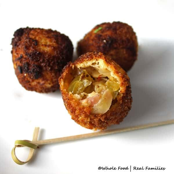 Gnar Gnar Sauerkraut Balls from Whole Food | Real Families.
